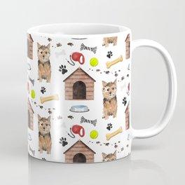 Norfolk Terrier Half Drop Repeat Pattern Coffee Mug