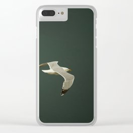 Gliding over the ocean Clear iPhone Case