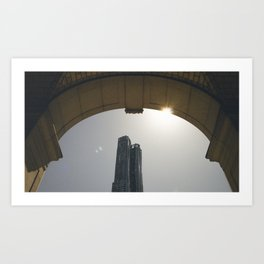 DownTown rainbow Art Print