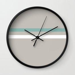 Blue Spring Stripe Art Wall Clock