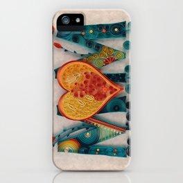 Teal Orange MOM iPhone Case