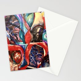 Red People No 2 Stationery Cards