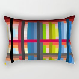 geometric retro colorful Naiad Rectangular Pillow
