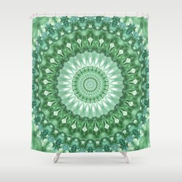 Emerald Green Mandala Shower Curtain