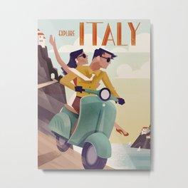 Vintage Travel Poster Italy Metal Print