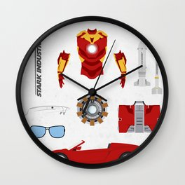 Hero's Stuff - Iron Man Wall Clock
