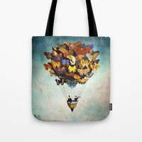 butterfly Tote Bags featuring Fly Away by Christian Schloe