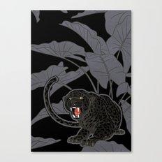Black Panthers on Black. Canvas Print