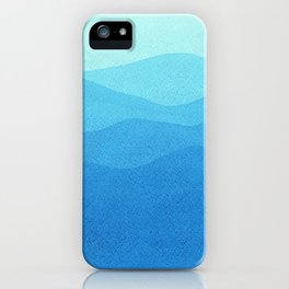 Blue waves. iPhone Case