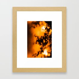 Simple Shadows Framed Art Print