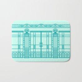 ART DECO, ART NOUVEAU IRONWORK: Blue Green Dream Bath Mat