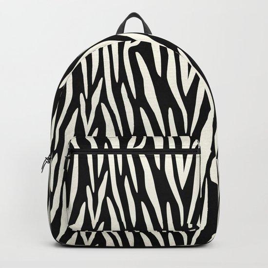 Zebra Print Backpack