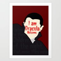 dracula Art Prints featuring Dracula by Swell Dame