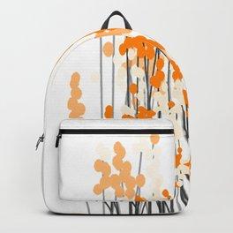 Orange Spring Bouquet on White Background #decor #society6 #buyart Backpack