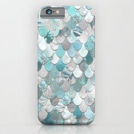 Mermaid Aqua and Grey iPhone Case