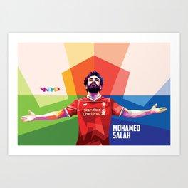 Mohamed Salah - Pop Art Art Print