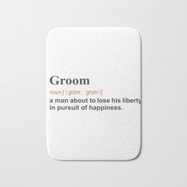 Funny Groom WeddingGift Definition on light Bath Mat