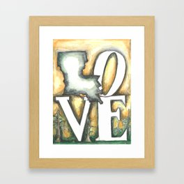 Love Louisiana Framed Art Print