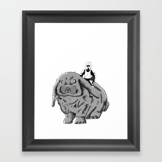 Rabbit Speeder Framed Art Print