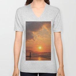 Myrtle Beach Fiery Sunrise Unisex V-Neck