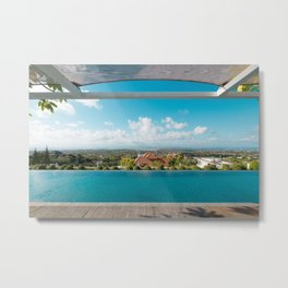 swimming pool in paradise Metal Print