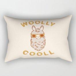 Woolly Cooll Cute Llama Pun Rectangular Pillow