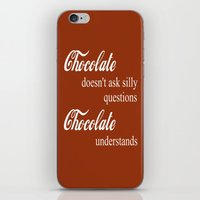 chocolate iPhone & iPod Skins featuring Chocolate by DuniStudioDesign