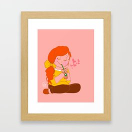 coffee love Framed Art Print