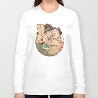 yaoi Long Sleeve T-shirts featuring Hello Coffee by kami dog