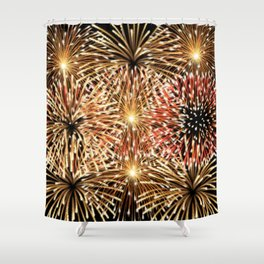 Fire Works Display Design Shower Curtain