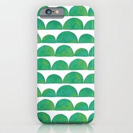Green Ink Wash Semi Circles iPhone Case