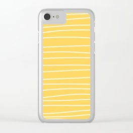 Sunshine Brush Lines Clear iPhone Case