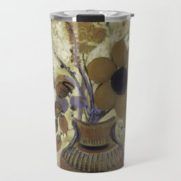 Etruscan Vase with Flowers - Odilon Redon Travel Mug