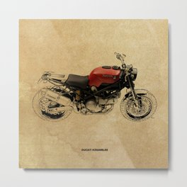 Ducati Scrambler Metal Print