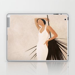 Minimal Woman with a Palm Leaf Laptop & iPad Skin