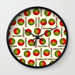 Portugal flag pattern Wall Clock
