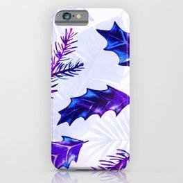 Purple Retro Christmas  iPhone Case