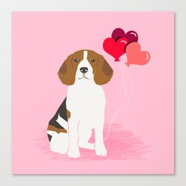 Beagle dog lover valentines day heart balloons must have gifts for beagles Canvas Print