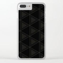 Modern Black Triangle Pattern Clear iPhone Case