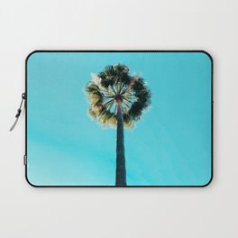 Modern tropical palm tree blue turquoise sky photography Laptop Sleeve