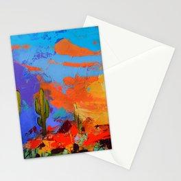 Saguaros Land Sunset Stationery Cards
