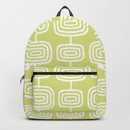 Mid Century Modern Atomic Rings Pattern 731 Chartreuse Backpack