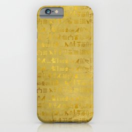 Gold Ancient Egyptian Hieroglyphic  iPhone Case