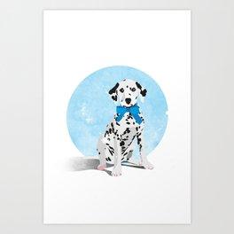 Dalmation Senstation Art Print