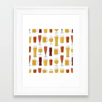 beer Framed Art Prints featuring Beer  by Cute to Boot