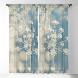 Indigo Dill Botanical Study 2 Sheer Curtain