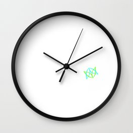 "A Perfect Gift For Wild Friends Saying ""Wild And Alive Raw Vegan Organic"" T-shirt Design Vegetarian Wall Clock"