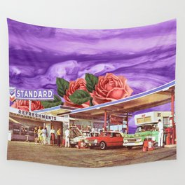 QUEEN OF THE GAS STATION Wall Tapestry