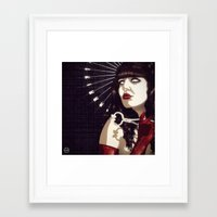 apollonia Framed Art Prints featuring St Apollonia by matteo alfonsi