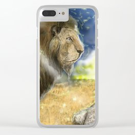 Lamb Among Lions Clear iPhone Case